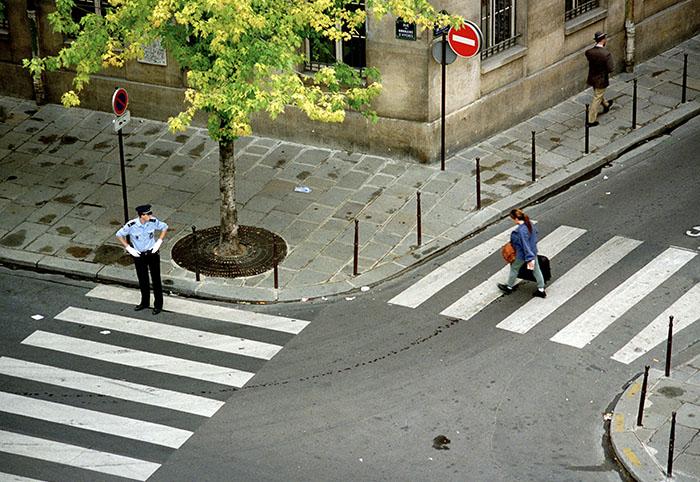 A suspect. Paris, 1996